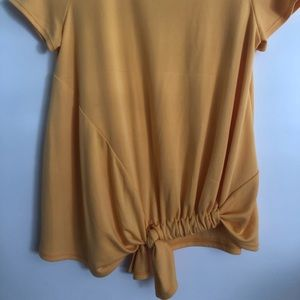 mustard yellow top from francescas
